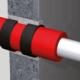 Rohr Installation Brandschutzband