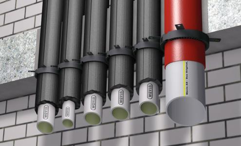Rohr Installation Brandschutzmanschetten